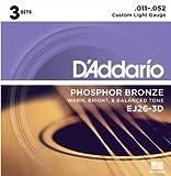 Best Acoustic Guitar Strings - D'Addario EJ26-3D Phosphor Bronze Acoustic Guitar Strings, Custom Review