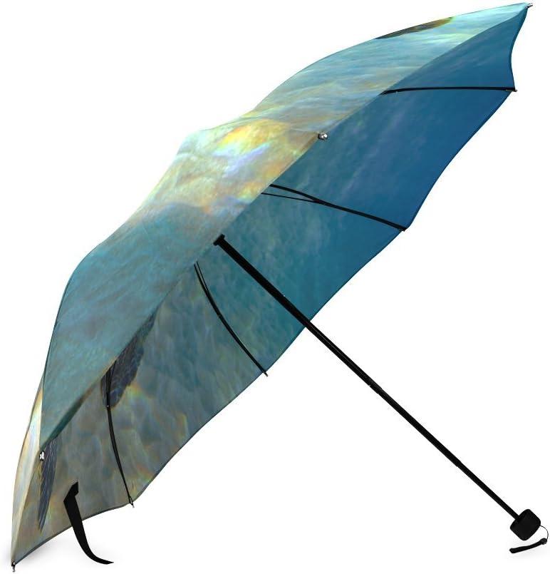 Custom Sea Turtles Compact Travel Windproof Rainproof Foldable Umbrella