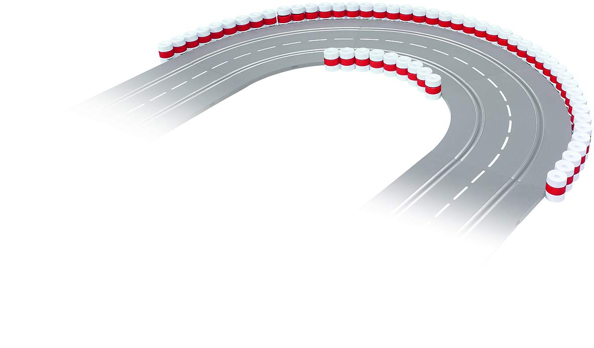 Carrera 20021130 21130 Tire Stacks Guardrail Wall for Digital 124/132/Evolution Slot Car Tracks Realistic Scenery Add On Parts Accessory, White Red by Carrera (Image #2)