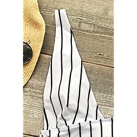 - 51l2QVnsDXL - CUPSHE Women's Quiet Elegance Stripe One-Piece Swimsuit Beach Swimwear Bathing Suit