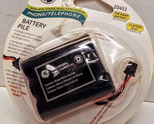 Cordless Phone Battery Fits Jasco GE 20451 Power Gear Cordless Phone Battery Ni-MH 3.6V 1500mAh Fits Uniden BT-905 BT-800 BT-1006 Models (Jasco Battery Cordless Phone)