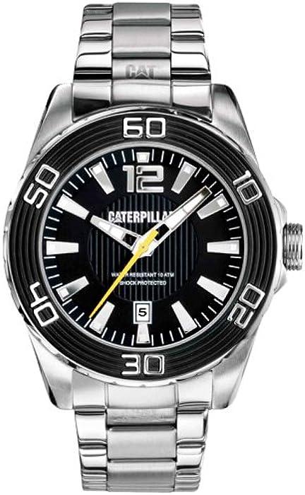 Caterpillar Reloj Análogo clásico para Hombre de Cuarzo con Correa en Acero Inoxidable S6.241.11.121