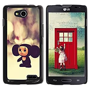 Paccase / SLIM PC / Aliminium Casa Carcasa Funda Case Cover para - Russian Cartoon Character Toy Big Ears 3D - LG OPTIMUS L90 / D415