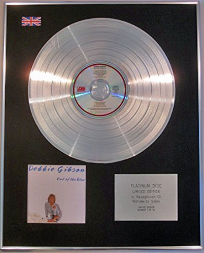 - DEBBIE GIBSON - Limited Edition CD Platinum Disc - OUT OF THE BLUE