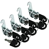 Smbbit 12/19 in (16mm) Cabinet Keyed Cam locks Cylinder Lock Security Drawer Door Mailbox Cabinet Tool Box Lock (4Pack)