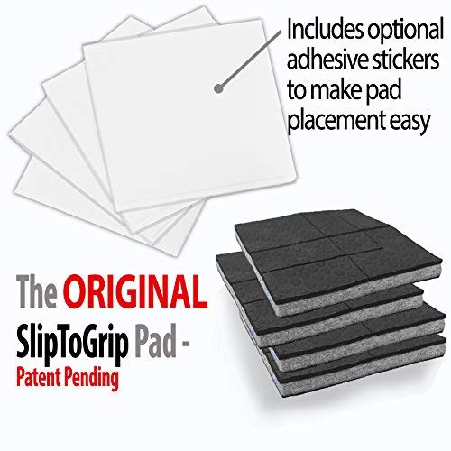 SlipToGrip'' Non Slip Furniture Pad Grippers - Stops Slide - Multi Size (12 Pads) - Make 4'', 1'', 2'', etc.- Pre-Scored Multiple Sizes - 3/8'' Felt Core - Anti Slip - No Nails, No Glue. by SlipToGrip (Image #6)