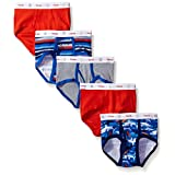 Hanes TB78P5 ToDDler Boy Ringer Brief With Comfort Flex Waistband Pack - 5, Size 2-3, Assorted
