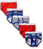 Hanes Toddler Boys 5-Pack Dyed Briefs, Assorted, 4