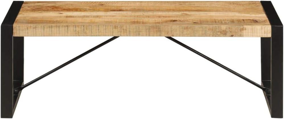 vidaXL Madera Maciza de Mango Mesa de Centro Mobiliario Decorativo Casa Hogar Decoraci/ón Estable Robusta Funcional /Útil Estilo Industrial 120x60x40cm