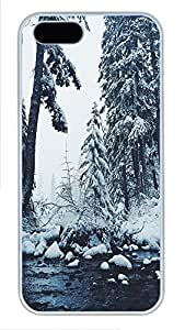 iPhone 5 5S Case landscapes nature snow 6 PC Custom iPhone 5 5S Case Cover White