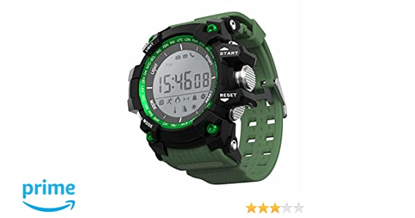 LEOTEC Green Mountain Reloj Inteligente Negro, Verde LCD 2,79 cm (1.1