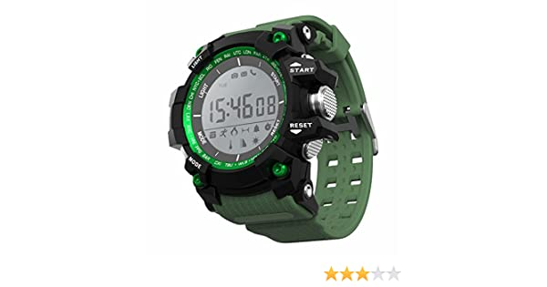 LEOTEC Green Mountain Reloj Inteligente Negro, Verde LCD 2,79 cm ...