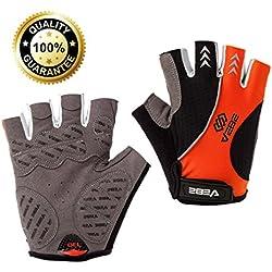 VEBE Men's Multi-functional Half Finger Anti-slip Biking Gloves Cycling Riding For Cross-country Road Sports
