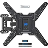 Mounting Dream Full Motion TV Wall Mount Bracket for 26-55 Inch TVs, Swivel TV Wall Mount - Wall Mount TV Bracket with TV Center Design & Extend 19 Inch, up to VESA 400x400mm and 60LBS