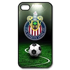 Sports Theme Club Deportivo Chivas USA iPhone 4,4s Case Hard Protective Back Case by supermalls