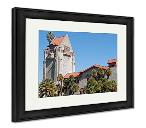 Ashley Framed Prints Tower at San Jose State University, Wall Art Home Decoration, Color, 34x40 (Frame Size), Black Frame, AG5430538
