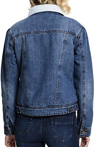 Ladies 799 Giacca Donna Schwarz Classics blue Denim Washed Urban Jacket Sherpa O4w4qv