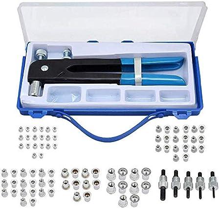 TOPQSC Rivet Gun 106 pcs Filet/ée Rivet /Écrou Kit Insert Filet/é Pour Filetage M3 M4 M5 M6 M8 Heavy Duty /à rivets Riveteuse kit