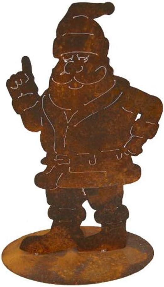 EQT-TEC Jardín Decoración Papá Noel Oxidado Figura Jardín Decoración Decoración óxido Figura Navidad: Amazon.es: Jardín