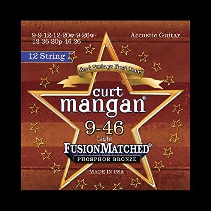 Curt Mangan USA Made Electric Guitar Strings 80//20 Bronze for 12-String Guitars