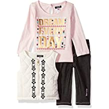 kensie Baby Girls' Fashion Top, Vest and Legging Set