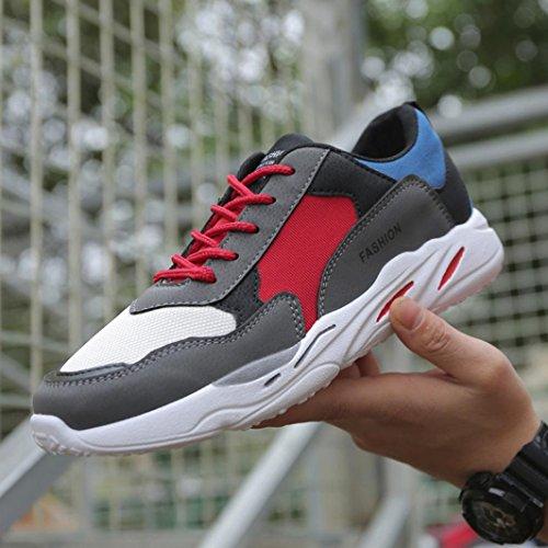 Pour Hunpta Baskets Gris Homme Mode q0Sx4Fp