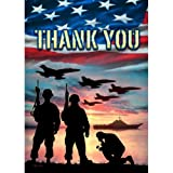 Thank You - USA Military Services - Garden Size Flag 12 Inch X 18 Inch Copyright and Trademark USA by Custom Decor Inc.