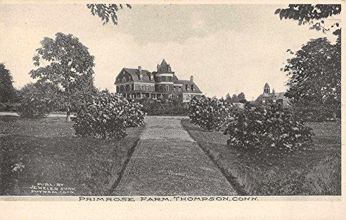 Thompson Connecticut Primrose Farm Scenic View Antique Postcard J36706 - Farm Primrose