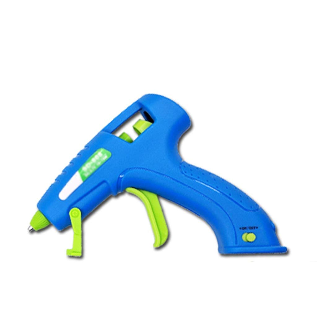 FeiQiangQiang Hot Melt Glue Gun, 15W Mini USB Rechargeable Hot Glue Gun Kit with Glue Stick and Bracket, Suitable for Children's Adult Handmade, Blue Manual aid (Color : J) by FeiQiang