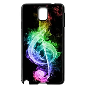 JFLIFE Clef Music Phone Case for samsung galaxy note3 Black Shell Phone [Pattern-1]