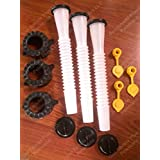 "3 BLITZ Gas Can SPOUTS & PART KITS customer special request ""FIX YOUR BLITZ JUG"""