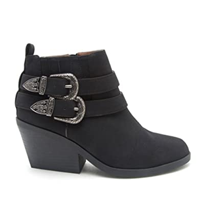 Women's Zora-06 Buckle Accent Ankle Booties