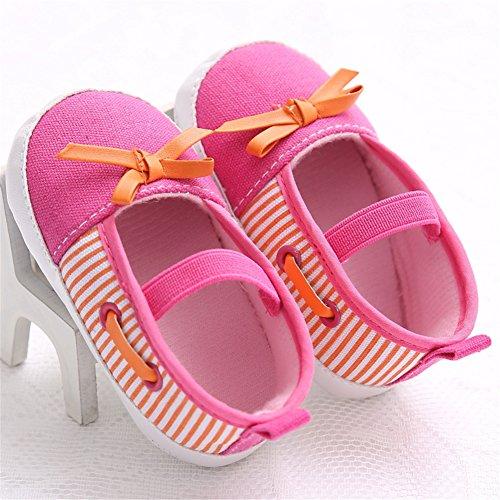 Pueri Zapatos Niñas Zapatos Suela Blanda Zapatos Primevera Otoño y Verano Rosa