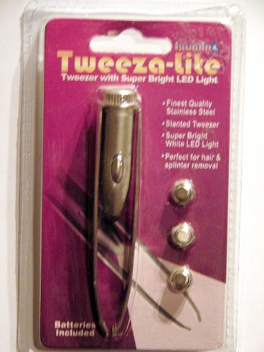 IlluminX Metal Tweezers with LED, Health Care Stuffs