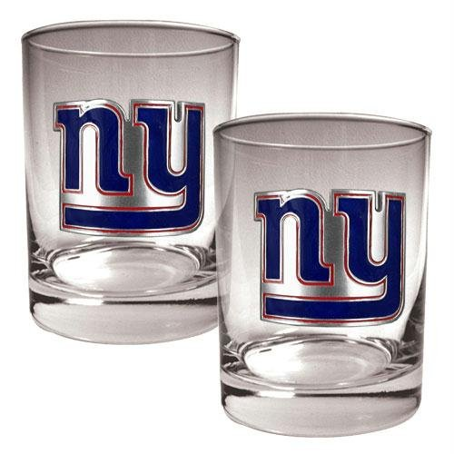 NFL New York Giants Two Piece Rocks Glass Set - Primary Logo (New York Yankees Rock)