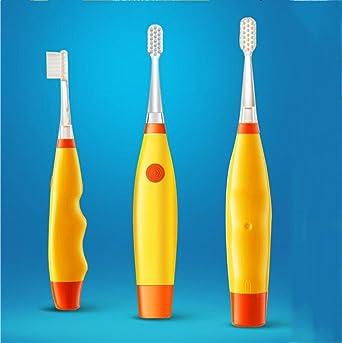 XIAOLI&Cepillo de dientes eléctrico de los niños de onda de sonido impermeable colorido flash portátil ultra