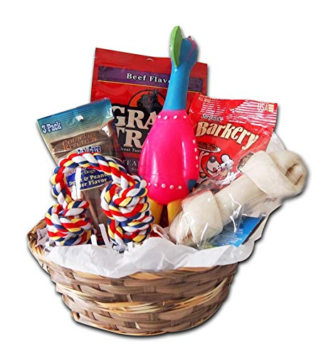 Dog Treat Gift Box Basket Crew Toys Package