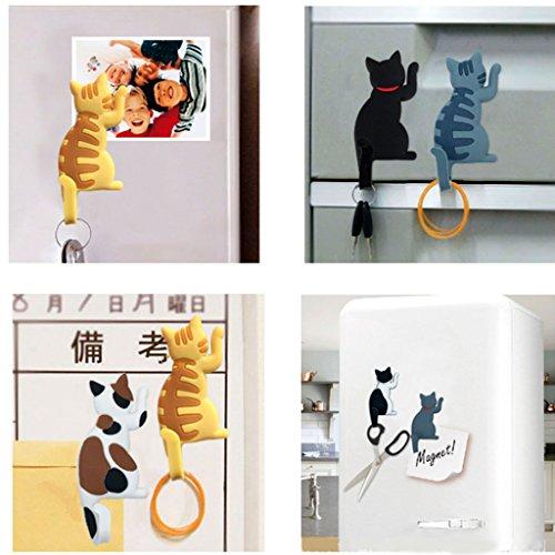 Lamdoo Gato Nevera imán Gancho Soporte microondas Horno Cocina frigorífico Pegatina Percha, A4, 4.5 * 13.5 * 0.5cm: Amazon.es: Hogar