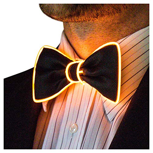 Neon Nightlife Light Up Bow Tie for Men, -