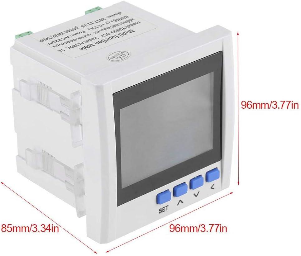 Acogedor Amperemeter Voltmeter , Stromz/ähler 3-Phasen-Multifunktions-Stromz/ähler f/ür Spannung Leistung Energie V A Hz kWh RS485 3-Phasen-Energiez/ähler Frequenz