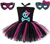 Skeleton Monster High School Tutu Dress w/Free MH Mask from Chunks of Charm (6)