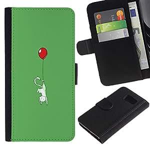 Sony Xperia Z1 Compact / Z1 Mini (Not Z3) D5503 - Dibujo PU billetera de cuero Funda Case Caso de la piel de la bolsa protectora Para (Cute Balloon Kitty Cat - Funny)