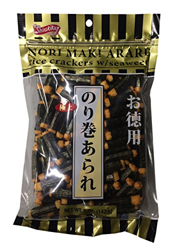 (Nori Maki Arare Rice Crackers with Seaweed 5 oz per Pack (2 Pack))