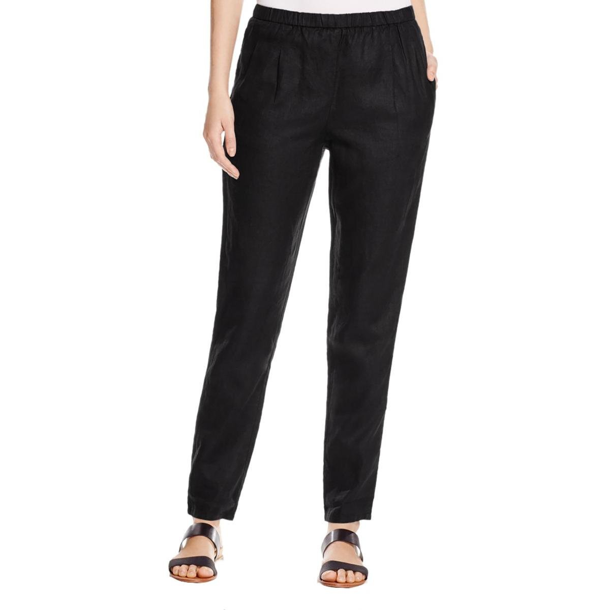 Eileen Fisher Women's Slouchy Pants (Black, Small)