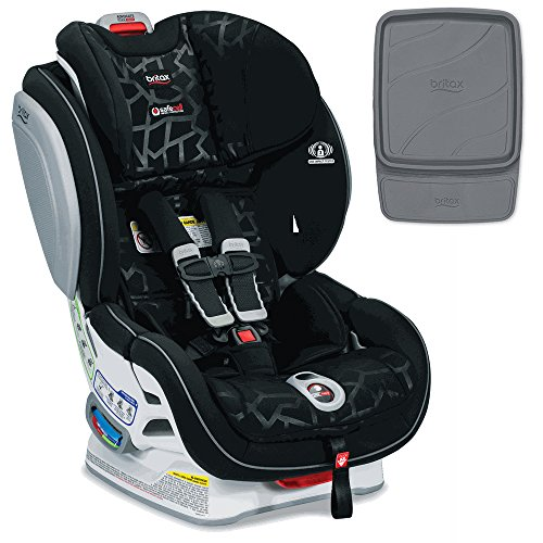 Britax Advocate ClickTight Convertible Car Seat, Mosaic & Britax Vehicle Seat Protector