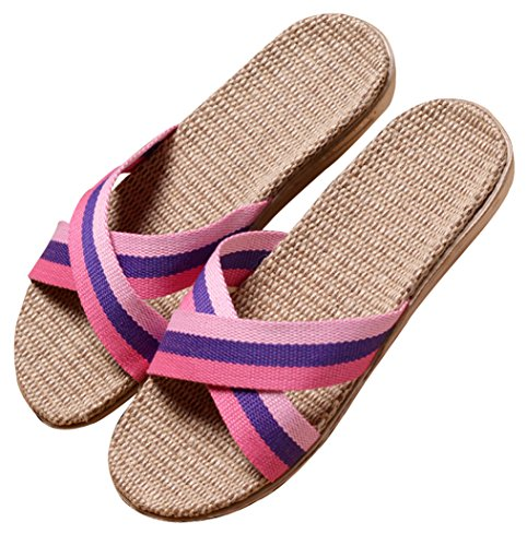 Pantofole Da Donna Estate Bluse Open Toe Light Lx Summer Slippers Pink House