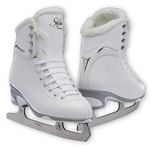 (Jackson JS 180 SoftSkate Adult Figure Ice Skates (Fleece, 10))