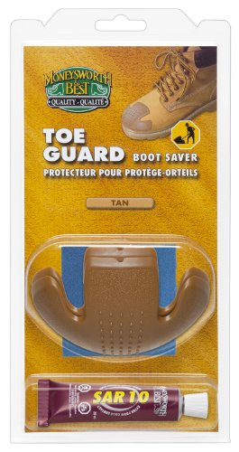 Moneysworth & Best Toe Guard Boot Saver, Tan, Large (Toes Plates Paper)