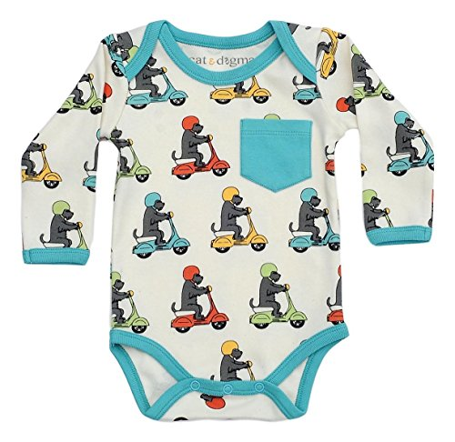 Infant Newborn Scooter - Cat & Dogma - Certified Organic Baby Clothing - Bodysuit - Scooter (3-6 Months)
