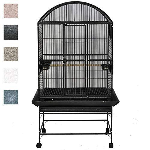 A&E Cage 9003223 Black Dome Top Bird Cage...
